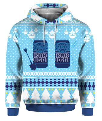 Bud Light Can Beer Funny Ugly Christmas hoodie