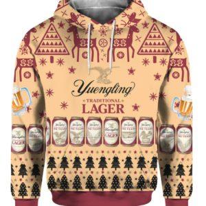 Yuengling Lager Beer 3D Print Ugly Christmas hoodie