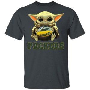 Baby Yoda Hug Green Bay Packer Shirt