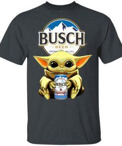 Baby Yoda Hug Busch Beer Shirt