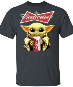 Baby Yoda Hug Budweiser Beer Shirt