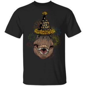 T-Rex Happy New Year 2020 Shirt Ls Hoodie