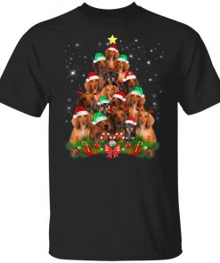 Christmas Dachshund tree T-Shirt Ls Hoodie