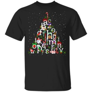 Alphabet christmas tree christmas shirt