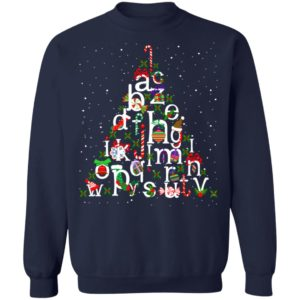 Alphabet christmas tree christmas