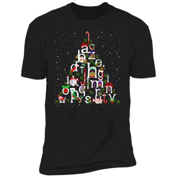 Alphabet christmas tree christmas shirt