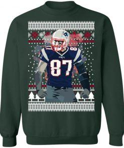 Rob Gronkowski 87 England Pat Patriots Ugly Christmas Sweater
