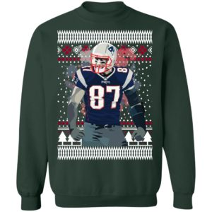 Rob Gronkowski 87 England Pat Patriots Ugly Christmas Sweater