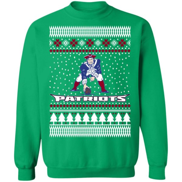 England Pat Patriots Ugly Christmas Sweatshirt