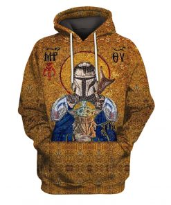Holy Mando and Child Baby Yoda 3D hoodie