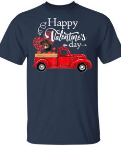 Happy Valentine's Day Truck Carrying Rottweiler Love Heart T-Shirt
