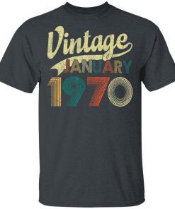 Born January 1970 Shirt Vintage 50th Birthday 50 Years Old T-Shirt