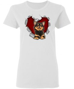 Chihuahua Dog Torn Heart Valentines Day Lover Shirt Ls Hoodie
