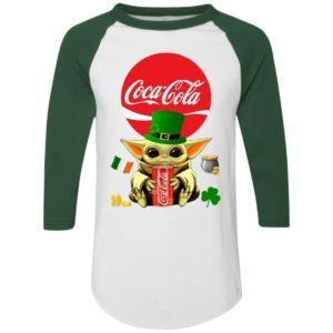 Baby Yoda Hug Coca Cola Red St Patrick's Day Shirt Raglan Hoodie