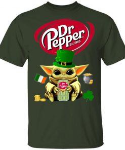 Baby Yoda Hug Dr Pepper Green St Patrick's Day Shirt Raglan Hoodie
