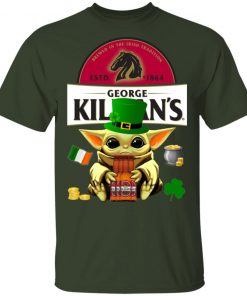 Baby Yoda Hug George Killian's Irish Red Beer St Patrick's Day Shirt Raglan Hoodie