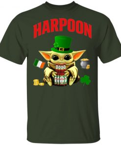Baby Yoda Hug Harpoon Celtic Ale Beer St Patrick's Day Shirt Raglan Hoodie