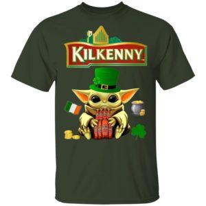 Baby Yoda Hug Kilkenny Cream Ale Beer St Patrick's Day Shirt