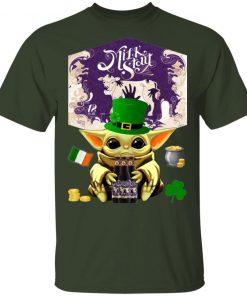 Baby Yoda Hug Left Hand Milk Stout Beer St Patrick's Day Shirt Raglan Hoodie