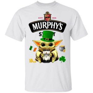 Baby Yoda Hug Murphy's Irish Stout Beer St Patrick's Day Shirt Raglan Hoodie