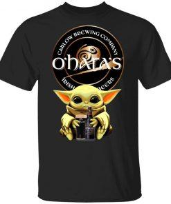 Baby Yoda Hug O'Hara's Irish Stout Beer Shirt Ls Hoodie
