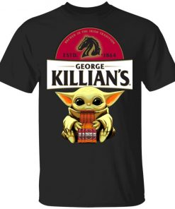 Baby Yoda Hug George Killian's Irish Red Beer Shirt Ls Hoodie