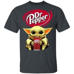 Baby Yoda Hug Dr Pepper Shirt Ls Hoodie