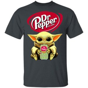 Baby Yoda Hug Dr Pepper Green Shirt Ls Hoodie