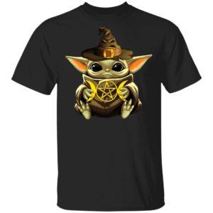 Baby Yoda Hug Star Shirt Ls Hoodie