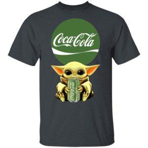Baby Yoda Hug Coca Cola Green T-Shirt Ls Hoodie