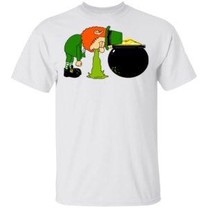 Throw Up Patricks Day Shirt Ls Hoodie