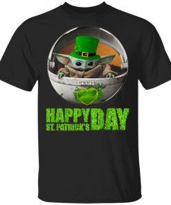 Baby Yoda Happy St Patrick's Day Shirt Ls Hoodie