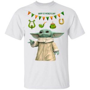 Baby Yoda St Patrick's Day T-Shirt Ls Hoodie