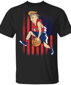 TRUMP 45 BASKETBALL T-Shirt Ls Hoodie