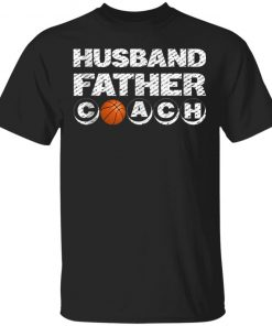 Husband Father Coach Basketball player dad shirt Ls Hoodie