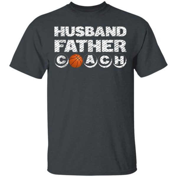 Husband Father Coach Basketball player dad shirt Ls Hoodie
