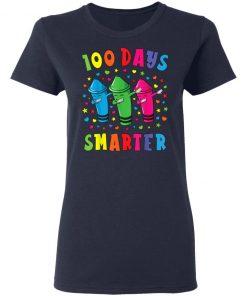 100 Days Smarter 100 Days Of School Dabbing Crayon T-Shirt