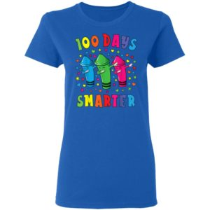 100 Days Smarter 100 Days Of School Dabbing Crayon T-Shirt