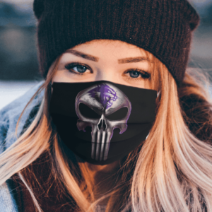 Abilene Christian Wildcats The Punisher Mashup Face Mask