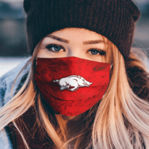 Arkansas Razorbacks football face mask