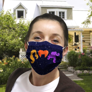 Hocus Pocus Glitter Cloth face mask