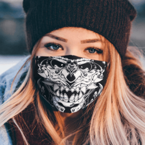 White Samurai Face Cloth Face Mask