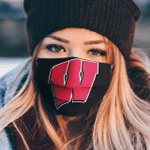 Wisconsin Badgers football face mask