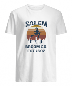 Witch Salem Broom Co Est 1692 Vintage T-shirt1