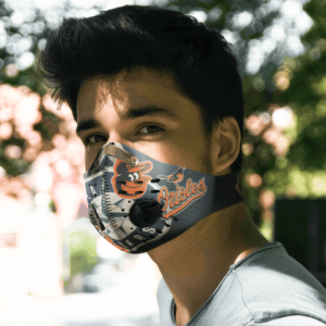 Baltimore Orioles FACE MASK SPORT WITH FILTERS CARBON PM 2.5