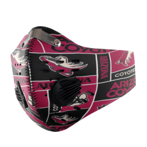 ARIZONA COYOTES ICE HOCKEY FACE MASK SPORT WITH FILTERS CARBON PM 2.5