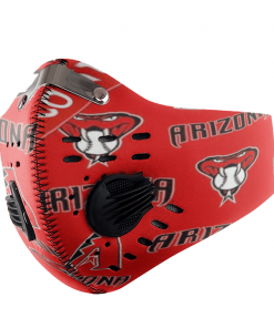 ARIZONA DIAMONDBACKS FACE MASK SPORT WITH FILTERS CARBON PM 2.5