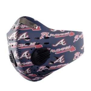 ATLANTA BRAVES FACE MASK SPORT WITH FILTERS CARBON PM 2.5