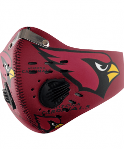 Arizona Cardinals FACE MASK SPORT WITH FILTERS CARBON PM 2.5