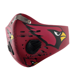 Arizona Cardinals FACE MASK SPORT WITH FILTERS CARBON PM 2.5